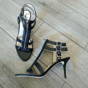 Michael Kors black strappy stiletto pumps 8 new